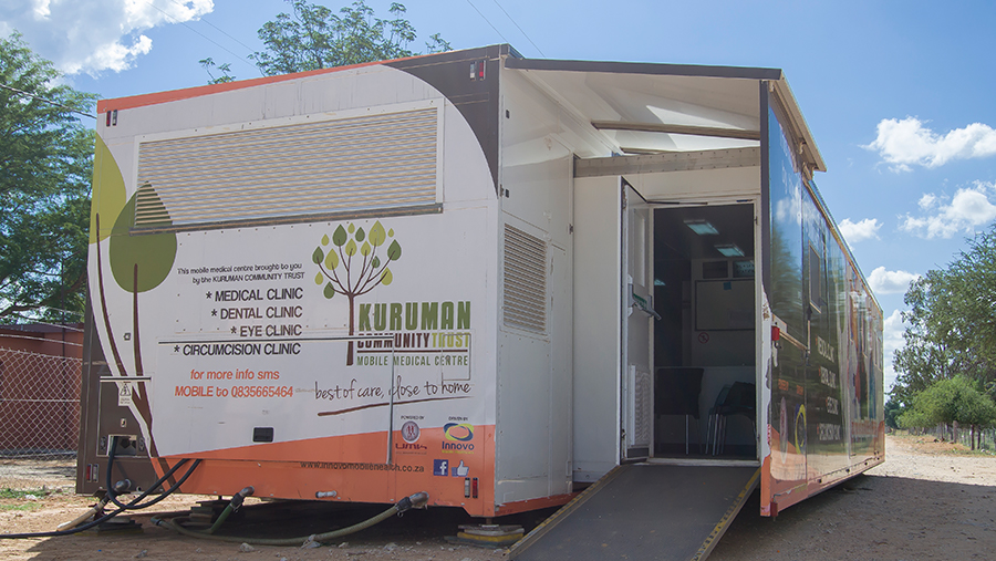 Innovo Mobile Health Clinic on site in rural area