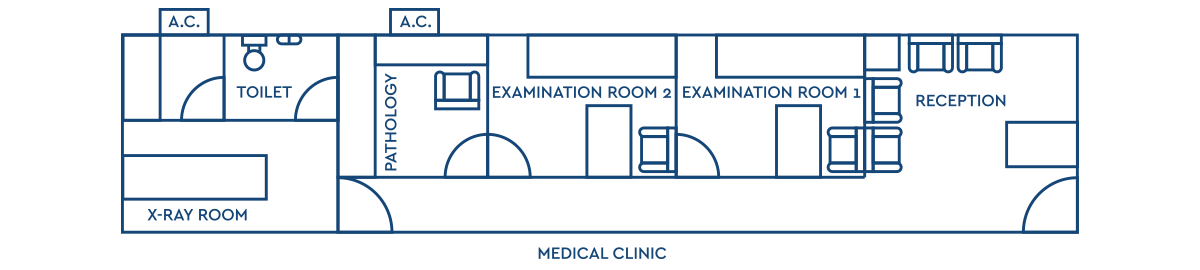 DENTAL CLINIC LAYOUT 45m²